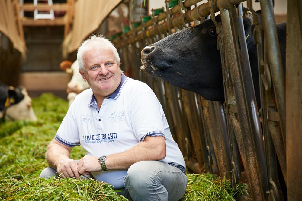 Nussi und seine Wagyu-Rinder.